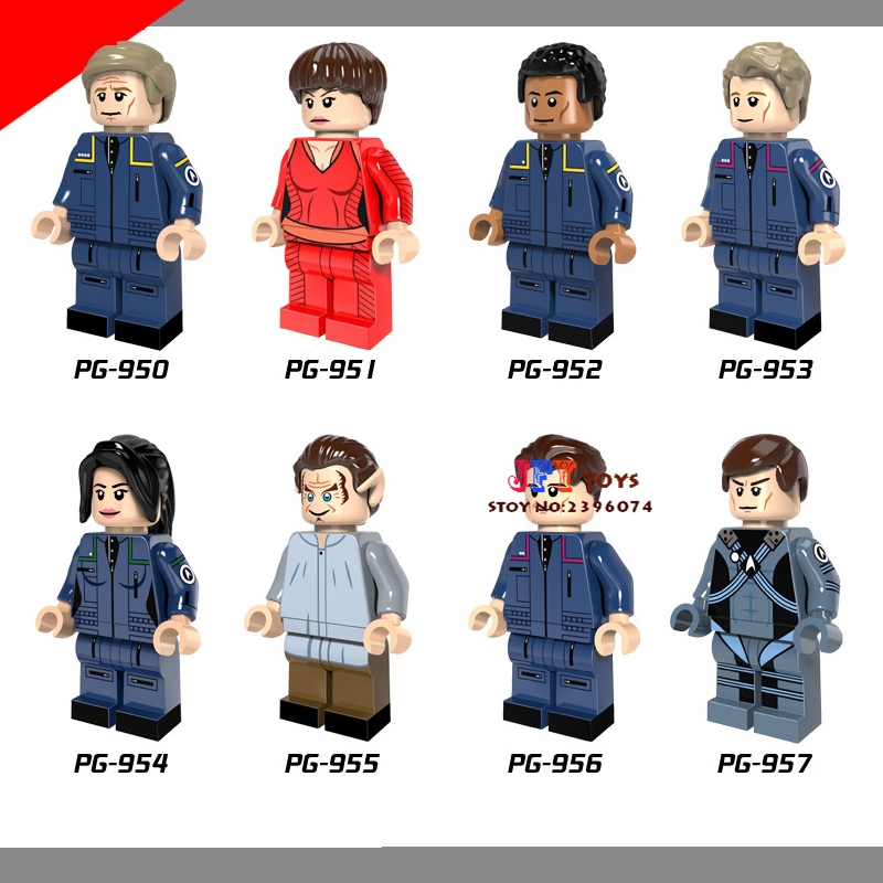50pcs Star wars super heroes Star Trek Uhura Scotty Eoward model building block for hobby children toys brinquedos menina