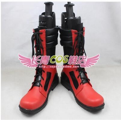 Marvel Comics Deadpool Dead pool Marvel Wade Wilson Legends cos Cosplay Shoes Boots shoe boot #JZ380 anime Halloween Christmas