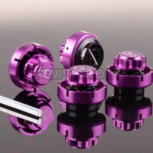 NEW ENRON 4Pcs Purple Metal RC 17mm Warlock Hex Nuts with 5MM Serrated Nuts Set Aluminum For RC CAR HPI Savage Flux