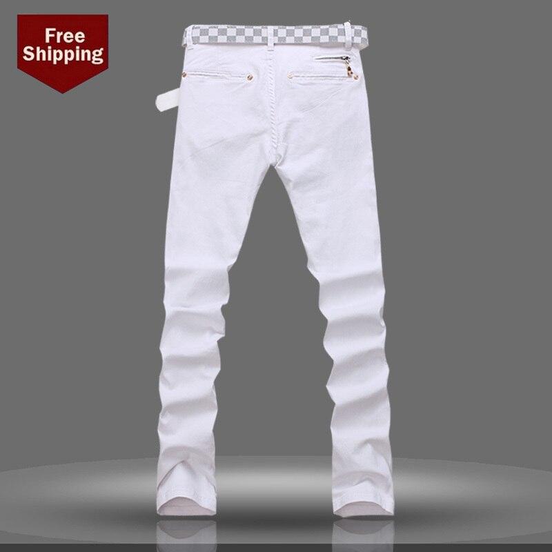 Pantanon Jeans Blanco Para Hombre