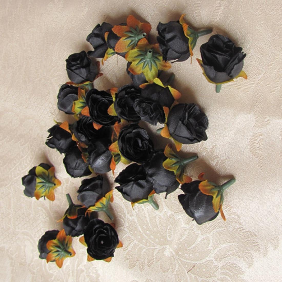 UESH-100pcs Multi Color Pequeño Té Rosa Bricolaje Rosa Flor de Seda - Para fiestas y celebraciones - foto 2