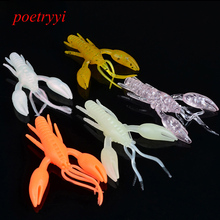 POETRYYI 5 Pcs/pack 6g 8cm for Fishing Worm  Jig Head Soft Lure Fly Bait 30