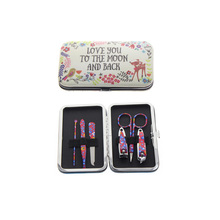 Купить с кэшбэком 6Pcs/Set Soft Cover Cute Manicure Set For Wife Daughter Mother Women Girl Holiday Birthday Christmas Gift Present