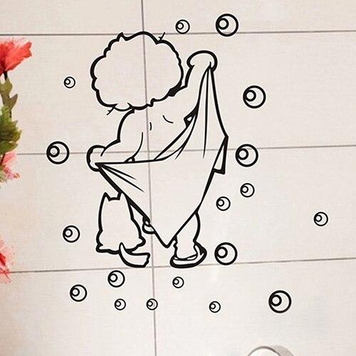 US $2.11 30% OFF|Haus Fliesen Gläser Wandtattoo Kinder Badezimmer Lustige  Abnehmbare Wasserdichte Aufkleber-in Wandaufkleber aus Heim und Garten bei  ...