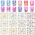 1 Hoja de Mascotas Gatos, Ciervos de la Navidad/Elefante Diseño Belleza Uñas Pegatina de Transferencia de Agua Tatuajes Completa Wraps A1249-1260