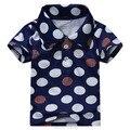 18 M ~ 6 T, novo 2017 Qualidade de Algodão Do Bebê Roupas Meninos Criança Crianças Roupa Dos Miúdos T-shirt Camisetas t Camisas De Marca Curto Outerwear