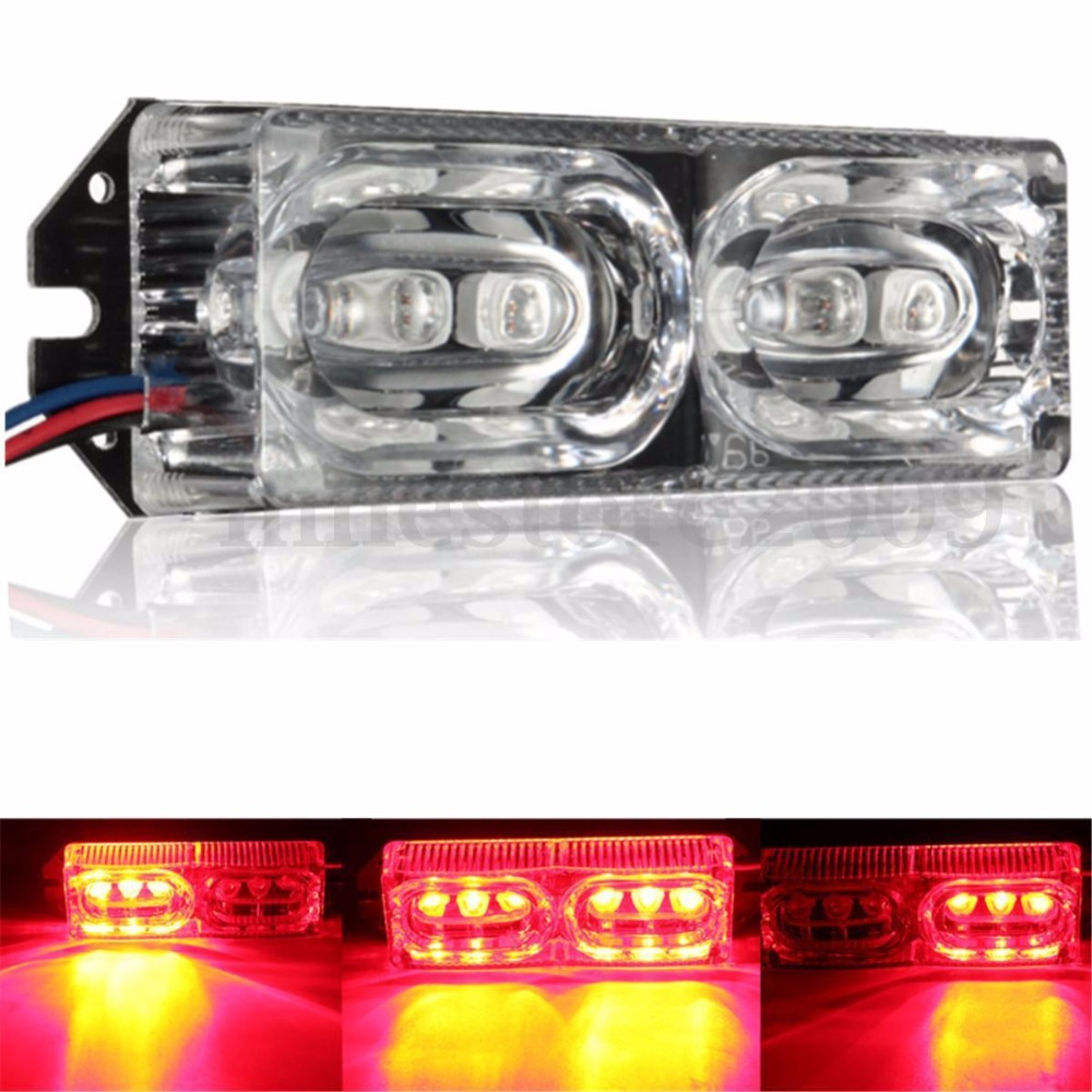 XYIVYG Motorcycle LED Brake Day Light Bar 12V Car Flashing Strobe Warning Emergency Lamp Red