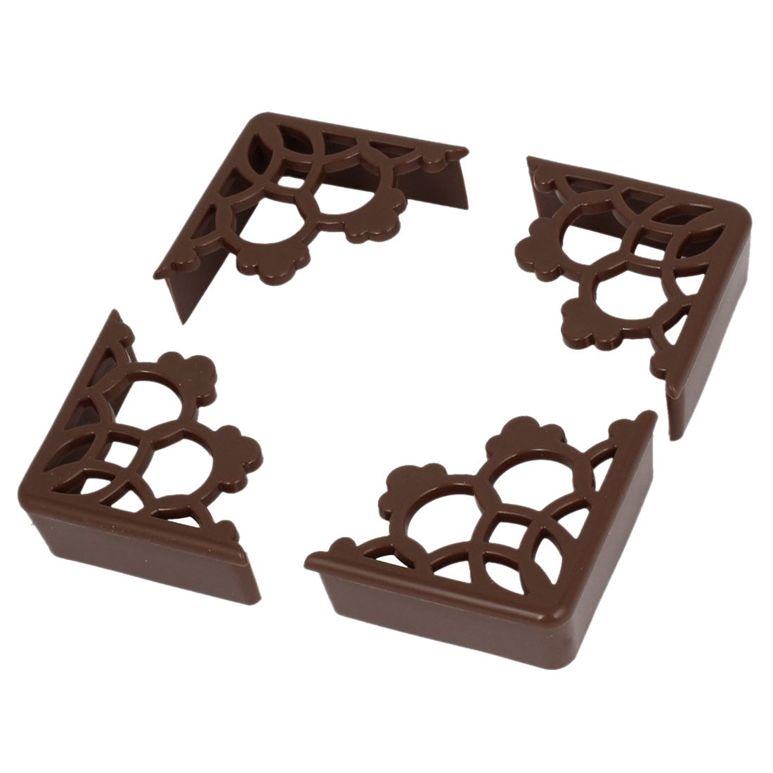HOT SALE 4 Pcs Corner Edge Cushion Desk Table Cover Safety Protection Padded Brown hot sale cayler
