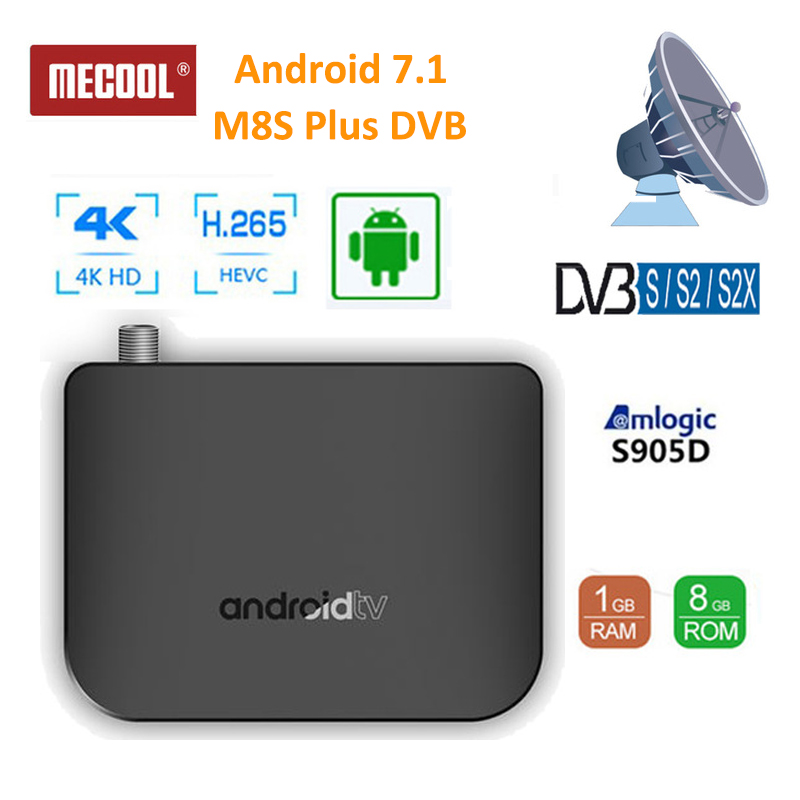 2019 Mecool M8S PLUS DVB Smart 4K Android 7 1 TV Box DVB S S2 S2X