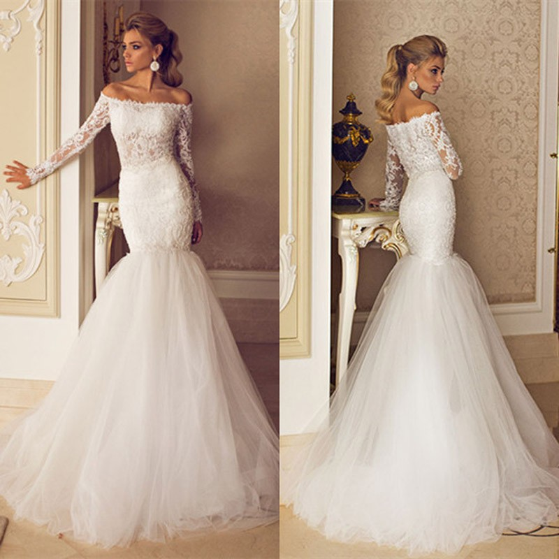 2016 Hot Sale SheathWedding Dress Floor Length Lace Bridal Gowns ...
