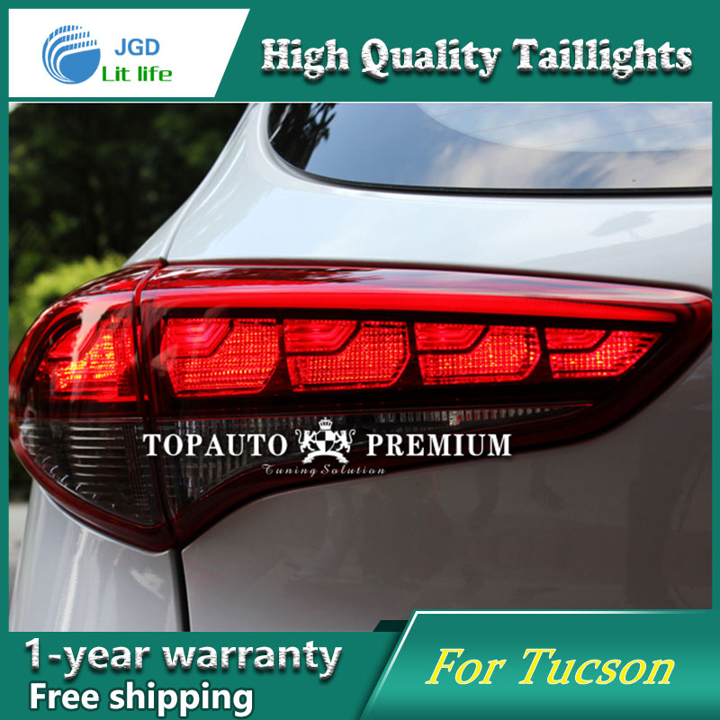 Car Styling tail lights LED Brake Lights Warning Lights case For Hyundai Tucson IX45 2016 2017 2018 Taillights