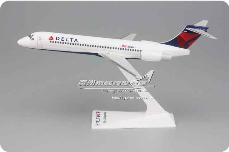 19 Cm Plastik Air American Delta Airways Model Pesawat B717-200 N935AT Maskapai Pesawat Model W Stand Pesawat Hadiah
