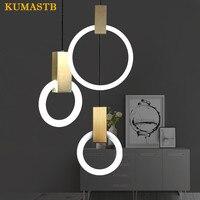 Скандинавское минималистское кольцо светильники дизайн Бар лестницы подвесной светильник Гостиная Столовая кольцо подвесные светильники