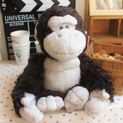 candice guo! Nici plush toy stuffed doll cute fat orangutan gorilla black King Kong  valentine's day christmas gift 1pc candice guo funny creative simulational chinese chess plush toy cushion pillow birthday gift 1pc