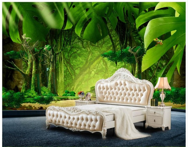 3d wallpaper custom 3d wall murals wallpaper landscape mural large3d wallpaper custom 3d wall murals wallpaper landscape mural large creative landscape forest jungle banana leaf background wall