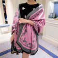 Transporte moda cashmere cor sólida cachecol de ultra longa capa dupla feminina outono das mulheres Marca de luxo inverno xales e cachecóis