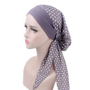 e22e58f7d Helisopus elástico Vintage impresión Banda ancha turbante mujeres Pre-atado  cáncer quimio cabeza bufanda noche dormir Cap accesorios para el cabello