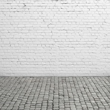 Laeacco White Brick Wall Flooring Photography Backgrounds Customized Photographic Backdrops Props For Photo Studio