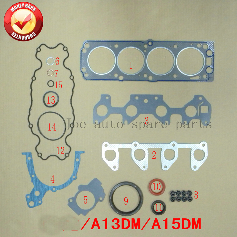 A14SMS A15SMS Engine Full Gasket Set Kit For Daewoo Lanos