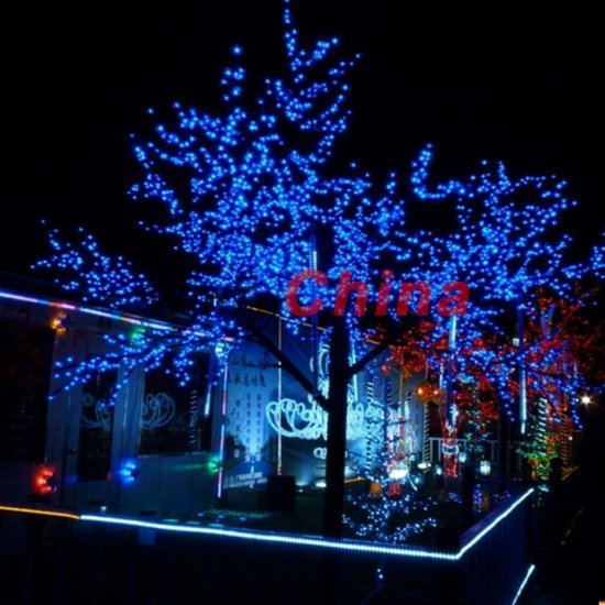 Free Shipping  Led Solar String Christmas Lights Gardens Outdoor Parties Blue Outdoor Christmas