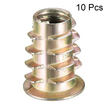 Uxcell Newest 10pcs/lot M6 M8 M10 Zinc Alloy Thread For Wood Insert Flanged Hex Drive Head Nut Furniture Nuts Bronze Tone