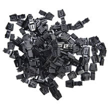 20PCS Black Plastic Zippers Pull Replacement Zipper Ends Lock Zip Clip Buckle Black For Paracord Accessories/ Backpack/Clothing(China)
