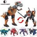CR 5 Estilos de Plástico Dinossauro Brinquedos Transformação Robô Clássico Brinquedos Figuras de Ação Meninos Modelo Dom Brinquedos Brinquedos HT3877
