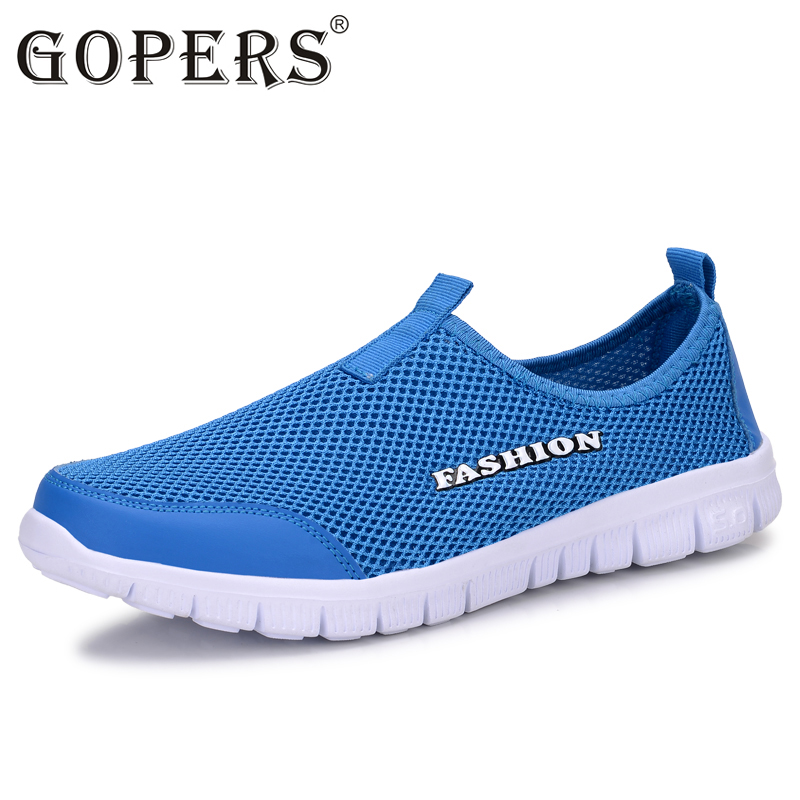 GOPERS Unisex Summer Breathable Mesh Men Shoes Lightweight Men Flats Fashion Casual Male Shoes Brand Designer Men Loafers fgn men s new 2017 casual summer breathable male wear resistant mesh shoes comfort trend of male flats shoes