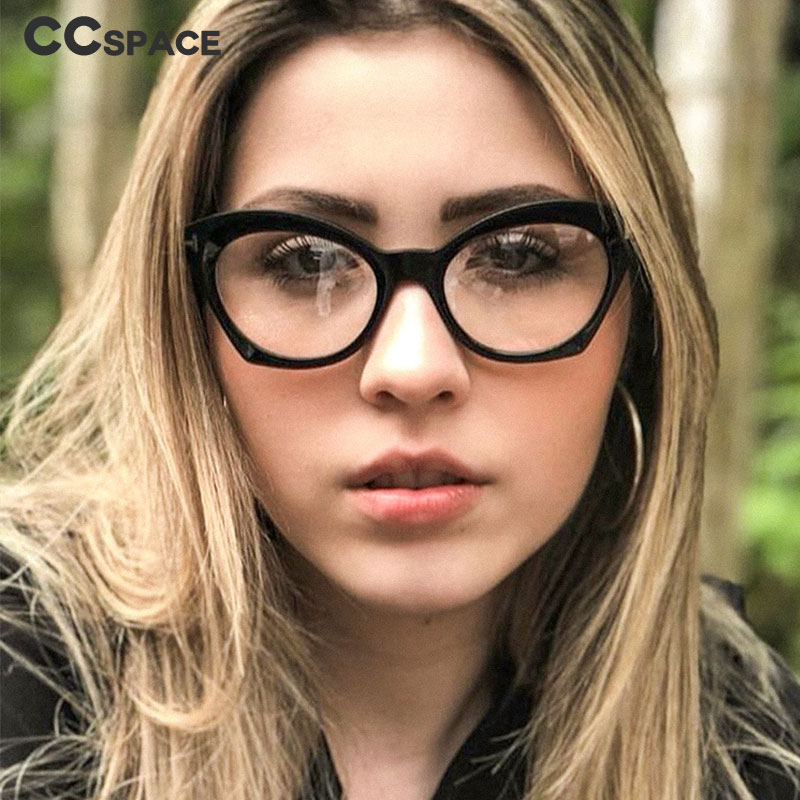 45761 Cat Eye Glasses Frames Men Women Optical Fashion Computer Glasses
