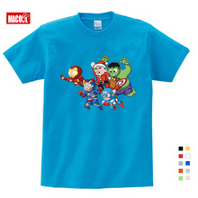 Summer Newest Boys and Girls T Shirt Funny Tops Superman Lovely Tee Hip Hop Clothes for Marvel Fans