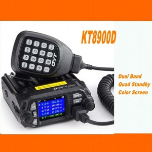 Image 1 - QYT KT 8900D mobil araba radyo VHF UHF 25W 4 Standy mobil radyolar mikrofon + USB programlama kablosu