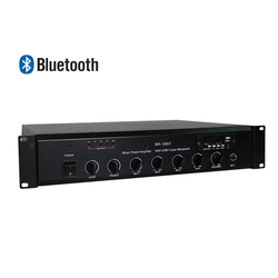 Ben & Fellows PA Mixer Amplifier 260W with Bluetooth Bass and Treble Control Automatic Mute Function for Paging and Announcement