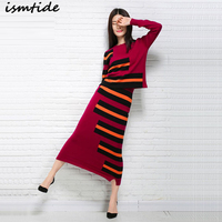 Women Knitted Sets Two Piece Suits Sweater Skirt Women Knitted Set Sweater And Skirt Winter Cashmere Sweater
