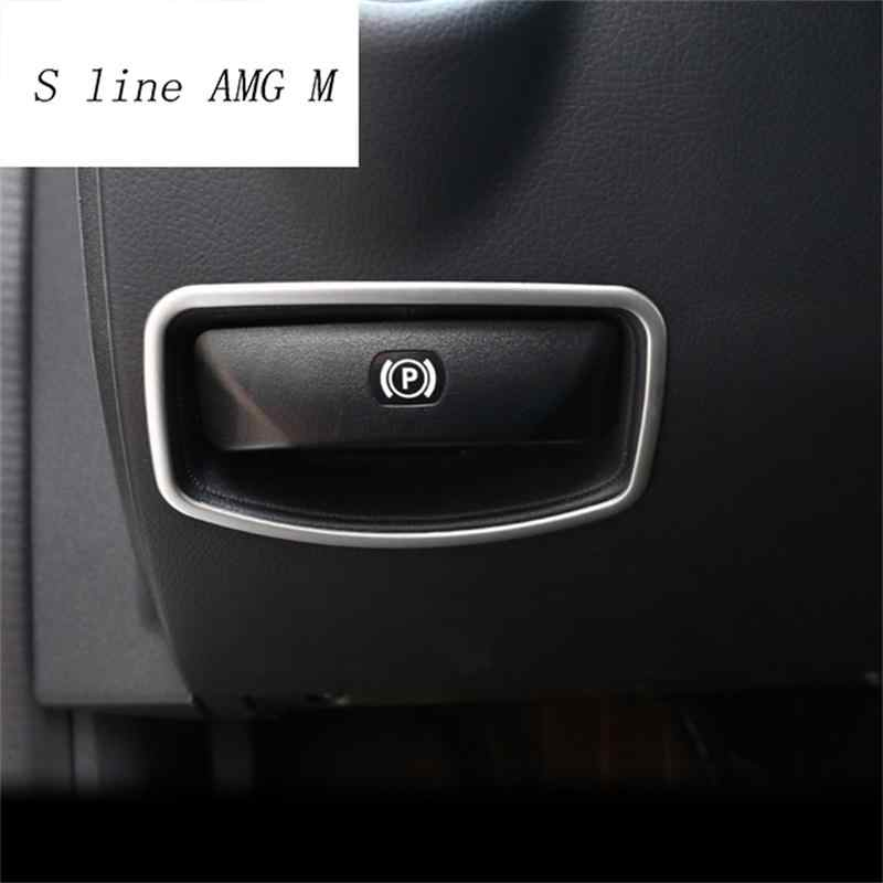 Car styling Il pedale del freno interruttore di rilascio cornice decorazione Trim Sticker per Mercedes Benz classe E W212 Classe C W204 accessori