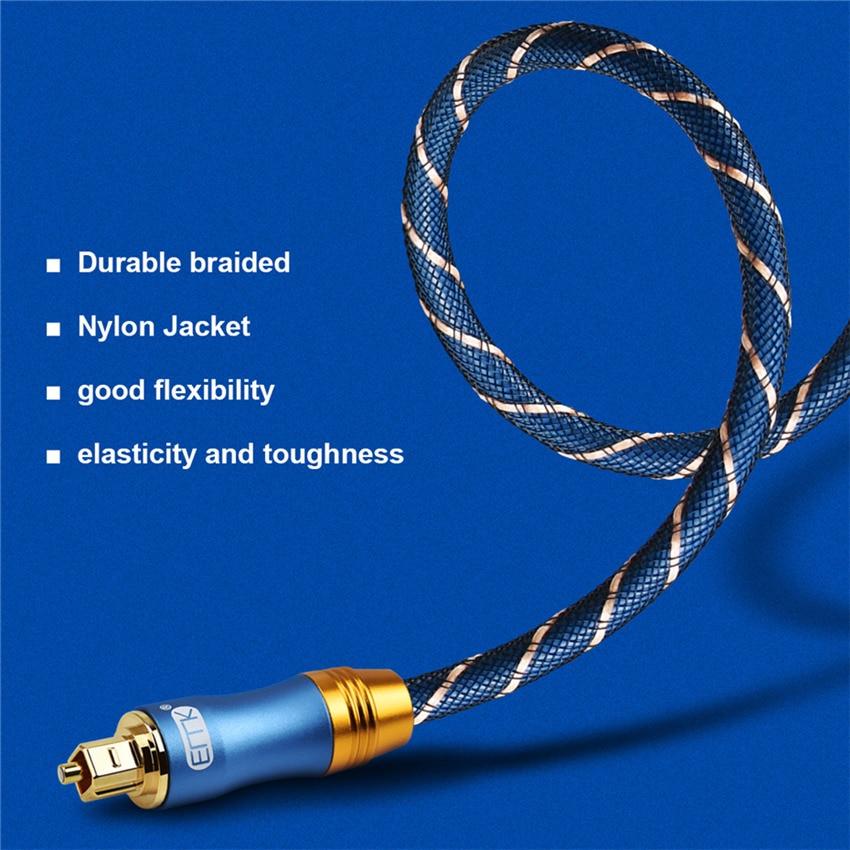 EMK Digital Optical Audio Toslink Cable Fiber Optic Audio Cable 1m 2m 3m 10m 15m for Hi-Fi DVD TV (9)