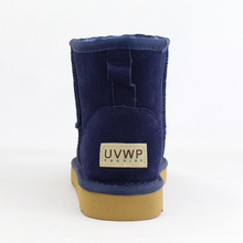 UVWP Brand Free Shipping Hot Sale Women Snow Boots 100% Genuine Cowhide Leather Ankle Boots Warm Winter Boots Woman Shoes