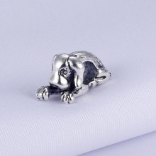 SPINNER Lovely Dog Bead Charm Fit Pandora Charm Bracelet for Women DIY Jewelry Accessories(China)