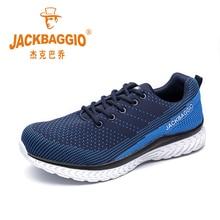 Hot merk mannen veiligheid werkschoenen, ademend lichtgewicht sport schoenen, antislip casual schoenen. Maat 36 45,3 kleur.