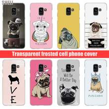 Sheli Pug Dog Transparent Hard Case for Samsung Galaxy A3 A5 2017 A6 A7 A9 A8 2018 plus A30 A40 Galaxy Note 9 8(China)