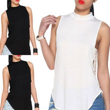 Women Sexy Vest Top Sleeveless Shirts Blouse Casual Loose Tank Tops T-Shirt S-XL