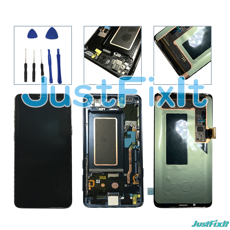 Original Super Amoled For Samsung Galaxy S9 S9 Plus G965 G960F Burn in shadow Screen LCD