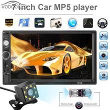 7″ Touch Screen Bluetooth Handsfree Car Stereo MP5 Player FM Radio w/ Rear View Camera Auto 2 Din USB AUX Music Player Autoradio