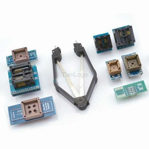 PLCC SOP 8 Programmer Adapter Sockets w IC extractor For EZP2010 TL866A TL866CS Best Electronic Kits