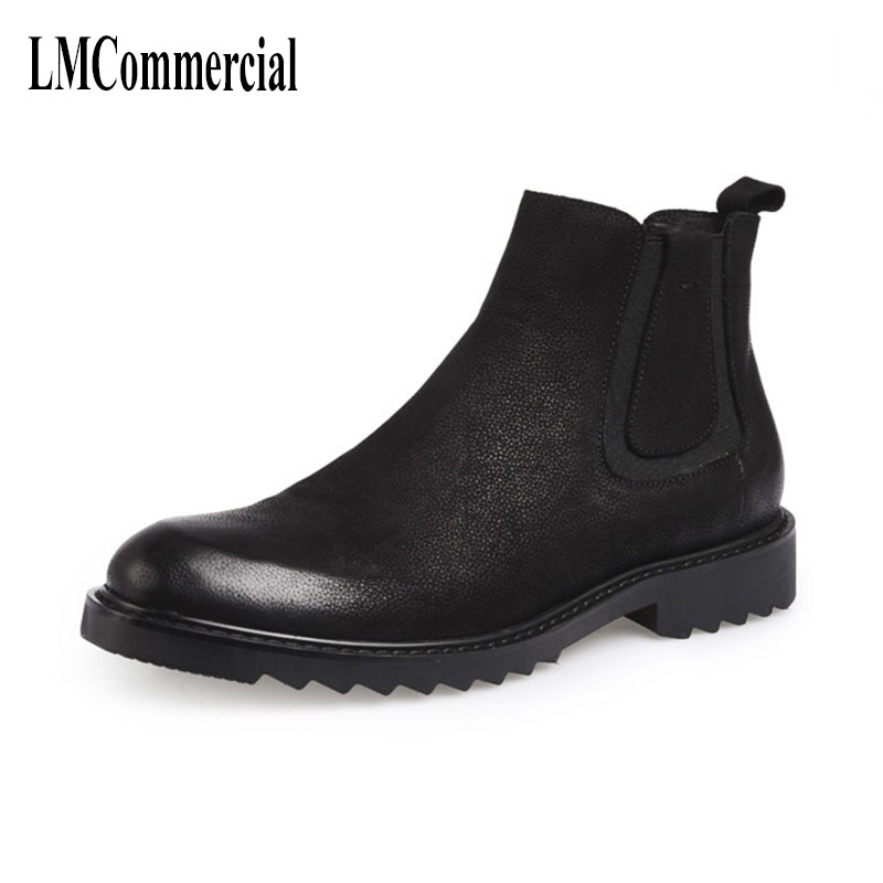 autumn winter British male Martin boots, leather velvet boots warm cotton boots,high shoes, Chelsea cowhide cashmere breathable autumn and winter with warm cashmere leather boots british retro men shoes martin head layer cowhide shoes boots breathable