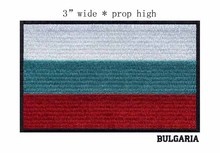 Bulgaria 3 wide embroidery flag patch free shipping patches for rectangle/white green red colors/peace and freedom