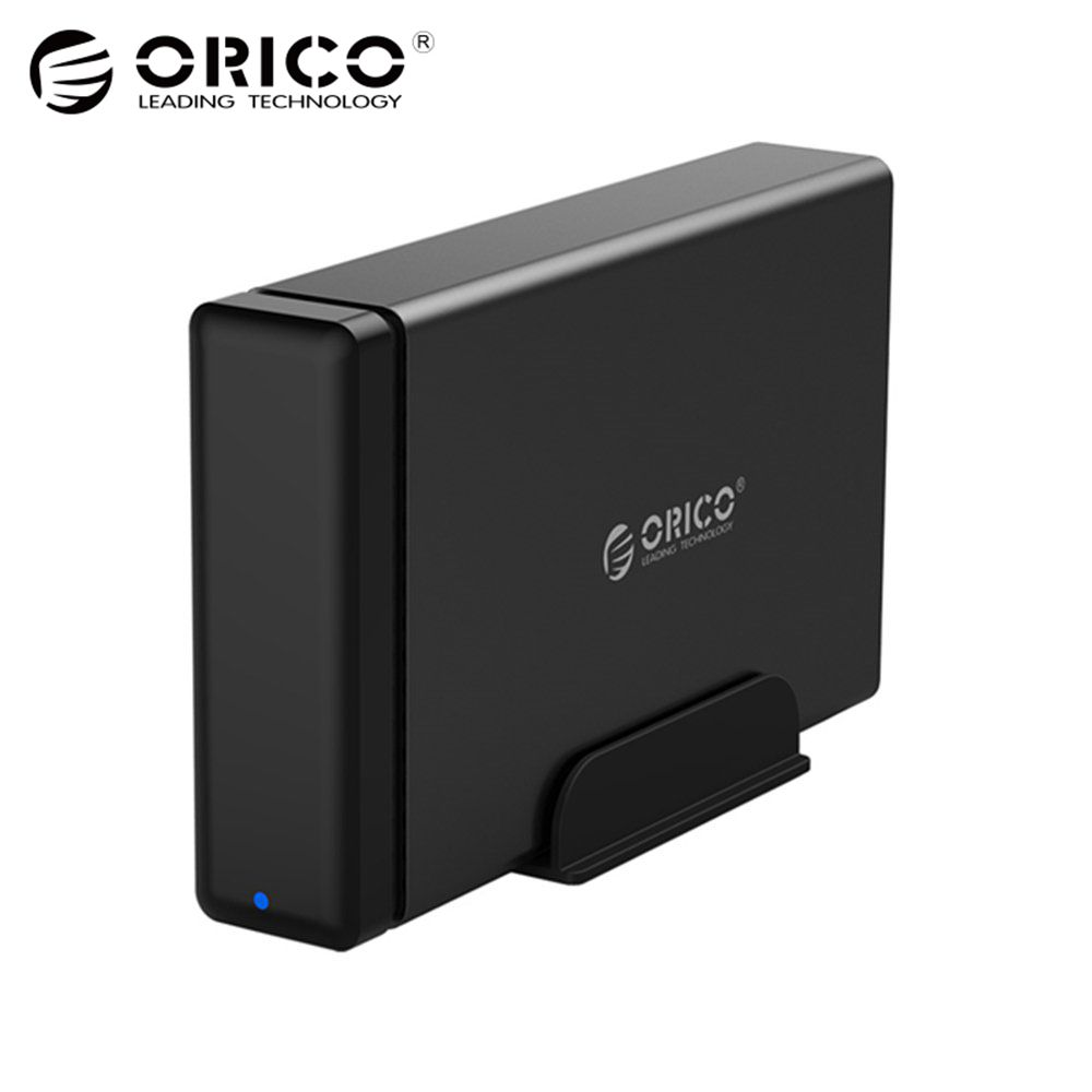 ORICO Type-C Aluminum Hard Drive HDD Dock Enclosure USB3.1 to SATA3.0 3.5 in HDD Case Support UASP 12V2A Power MAX 10TB Capacity подсветка для картин arte lamp picture lights vintage a9126ap 4sr