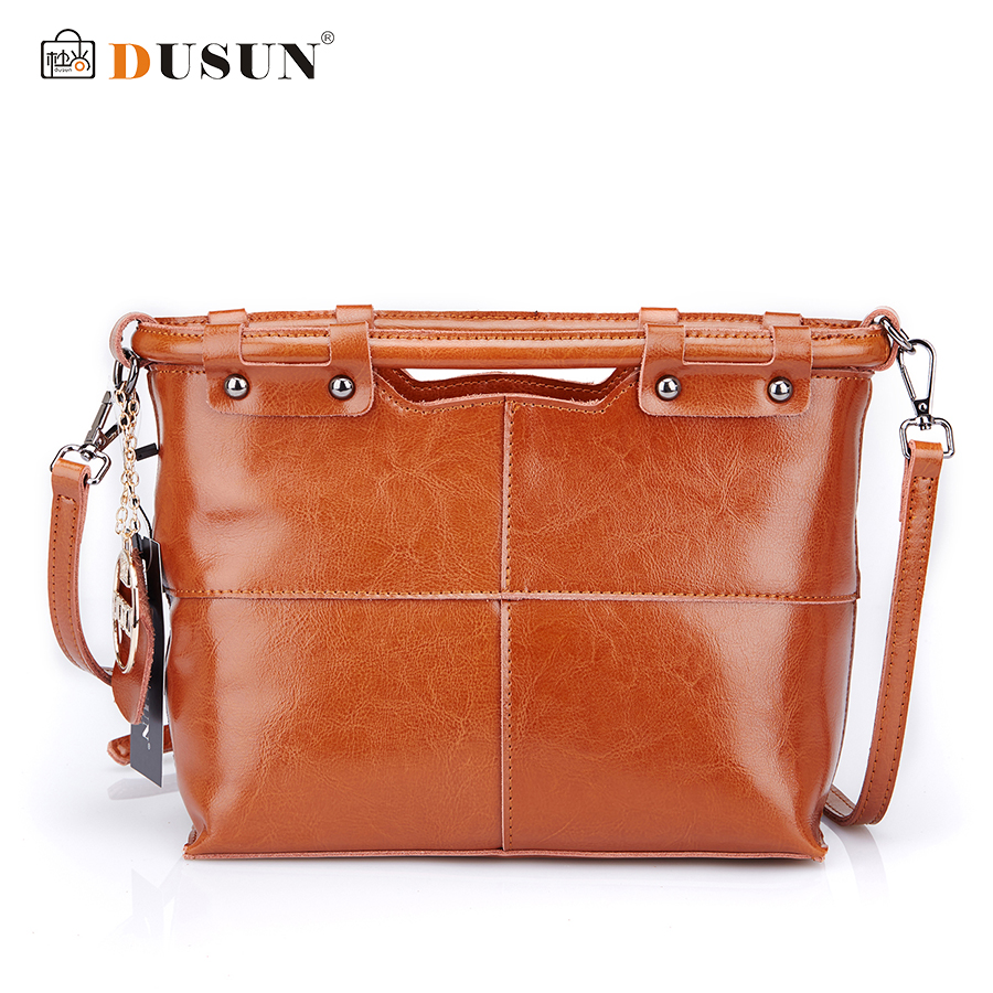 Dusun Brands Women Messenger Bags Designer Vintage Handbags Genuine Leather Bag Fashion Women Bag Shoulder Bags Bolsa Feminina 2018 new designer retro genuine leather bags handbags women famous brands ladies office work bag messenger clutch bolsa feminina