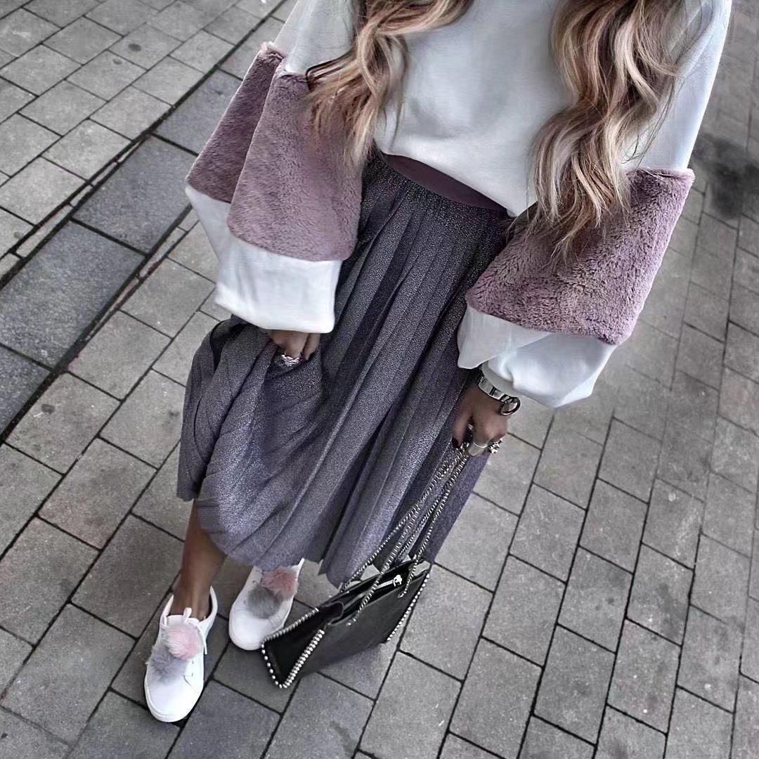 HTB1B4jUSXXXXXbpapXXq6xXFXXXV - FREE SHIPPING Women Faux Fur Crop Hoodies Sweatshirt Tumblr Oversize Pink JKP282