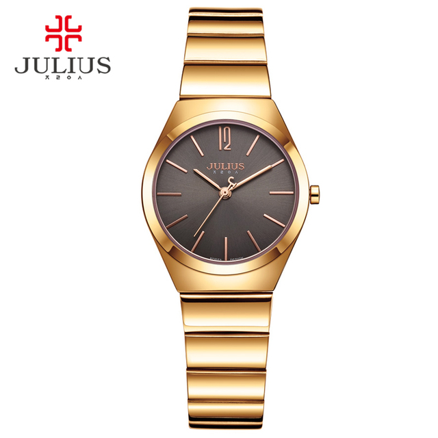 5b7d4def32c8 JULIUS 2017 Bracelet Luxury Wristwatches for Women Chain Strap Clock Female  Fashion Gold Montre Femme Dropshipping