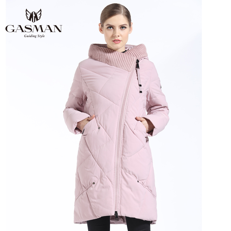 GASMAN 2018 New Winter Collection Brand Fashion Bio Down Jacket Women Hooded   Parkas   And Coats For Women Plus Size 5XL 6XL